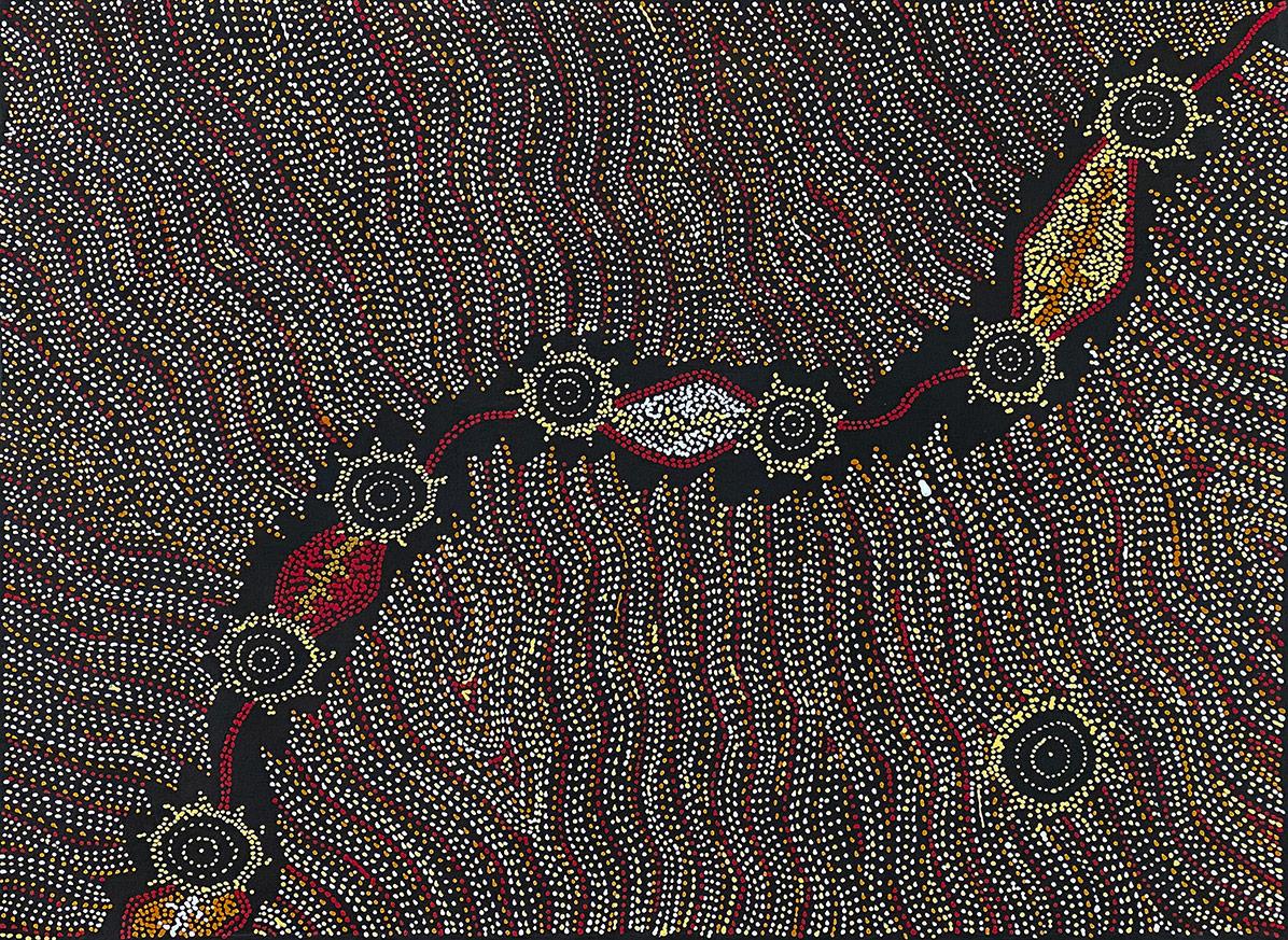 Product shot of Seven Sisters Dreaming - © Shanna Williams Napanangka