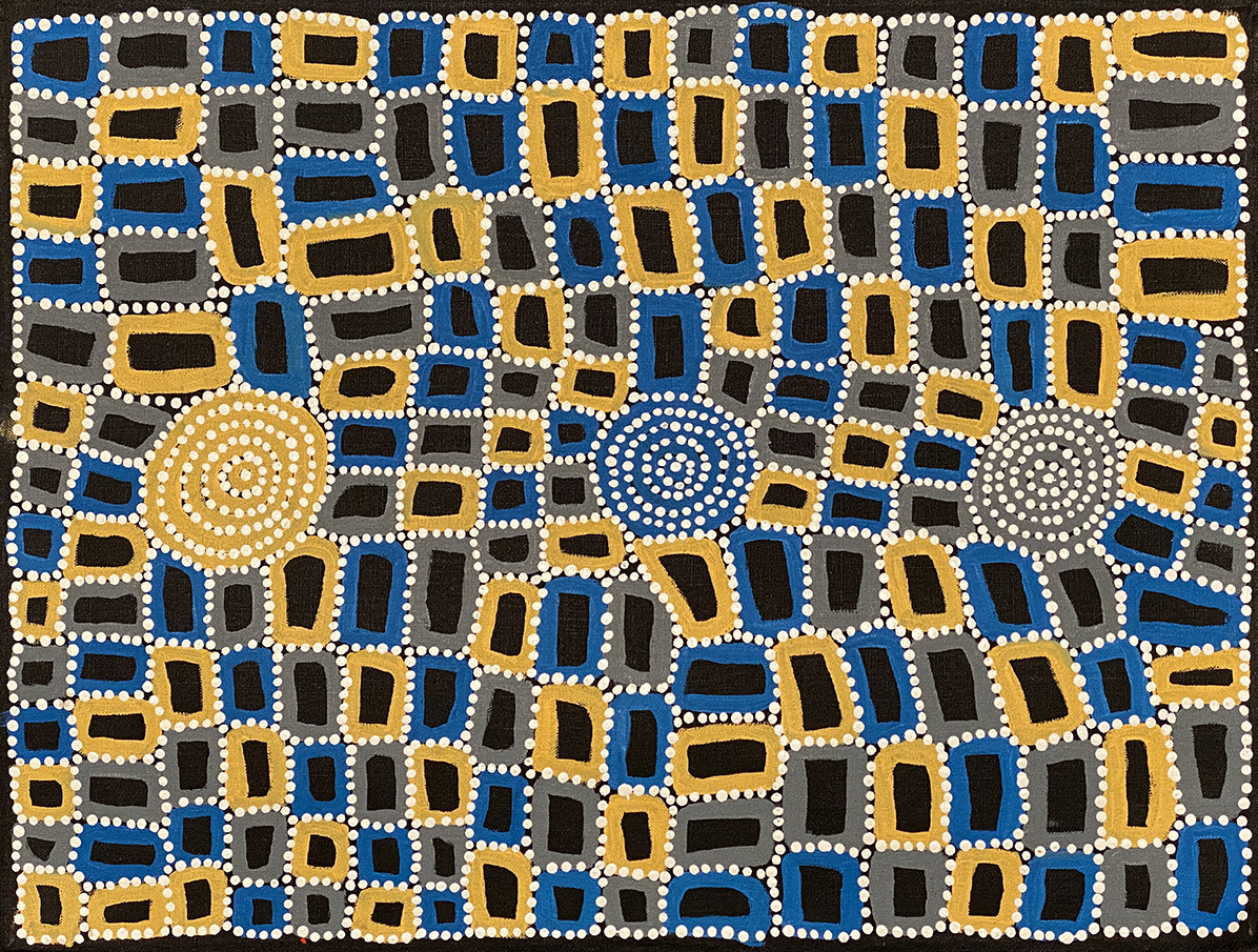 Product shot of Tingari - Men's Creation Dreaming - © Walala Tjapaltjarri