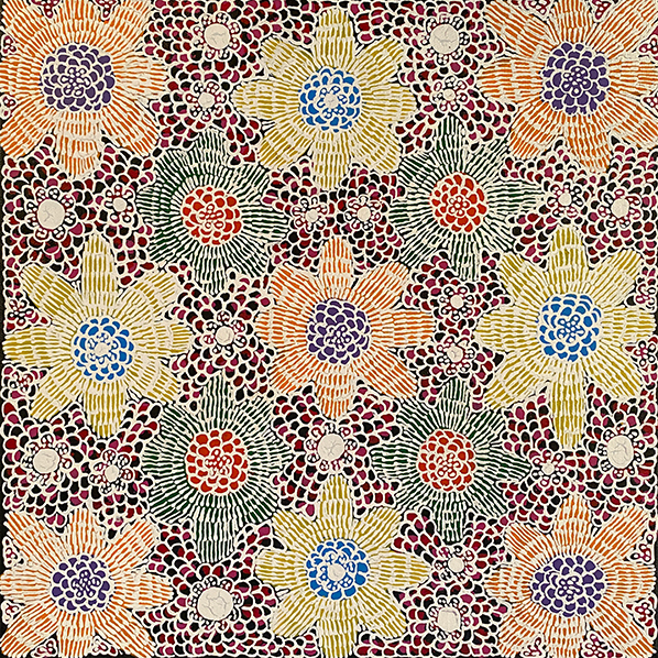 Product shot of Ilyarnayt - Acacia Flower - © Michelle Lion Kngwarreye