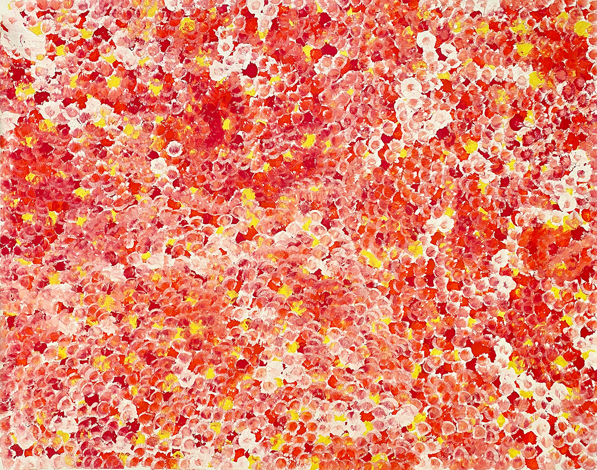 Product shot of Bush Plum Dreaming - © Belinda Golder Kngwarreye