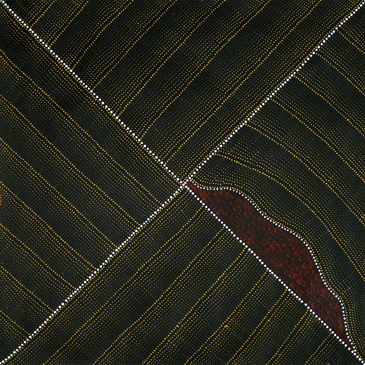 Product shot of Mountain Devil Lizard Dreaming - © Kathleen Petyarre