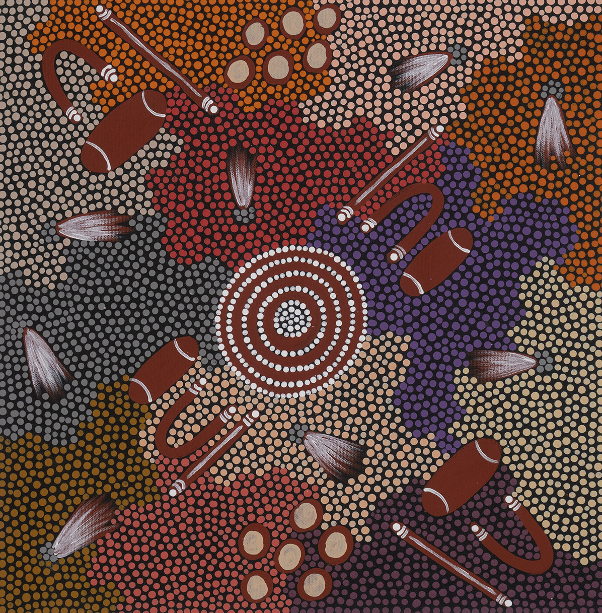Product shot of Women Collecting Spinifex Seeds - © Patsy Ross Napaljari