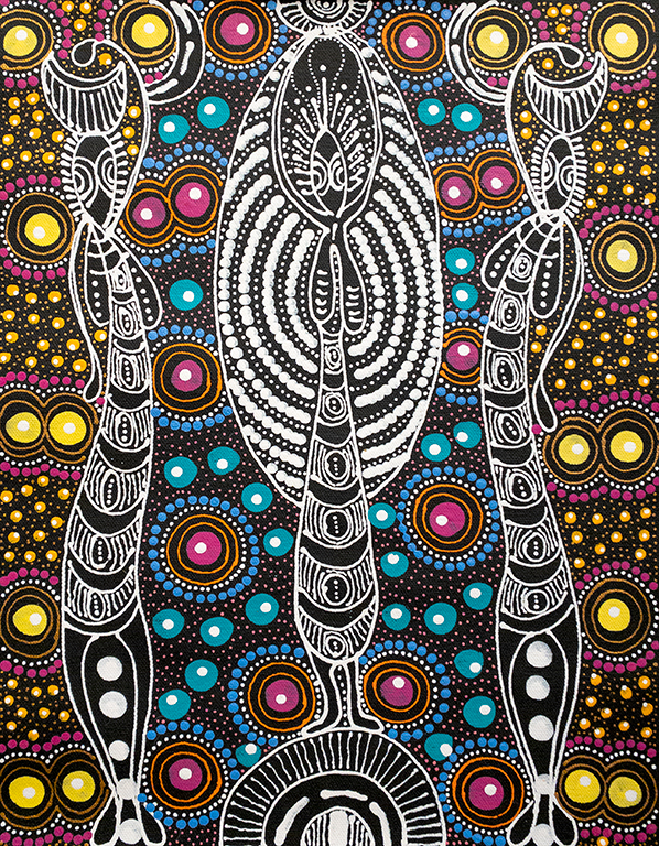 Product shot of Dreamtime Sisters - © Colleen Wallace Nungarrayi