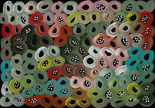 Product shot of Bush Melons - © Louise Numina Napanangka