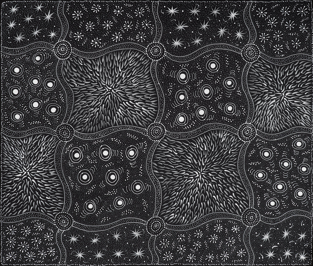 Product shot of Wild Black Seeds Dreaming - © Tanya Price Nangala