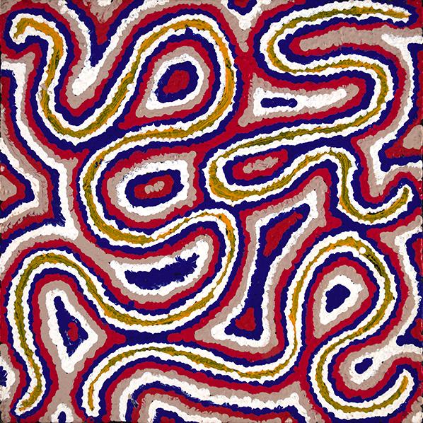Product shot of Desert Fringe-Rush Seed Dreaming - © Valerie Morris Napurrurla