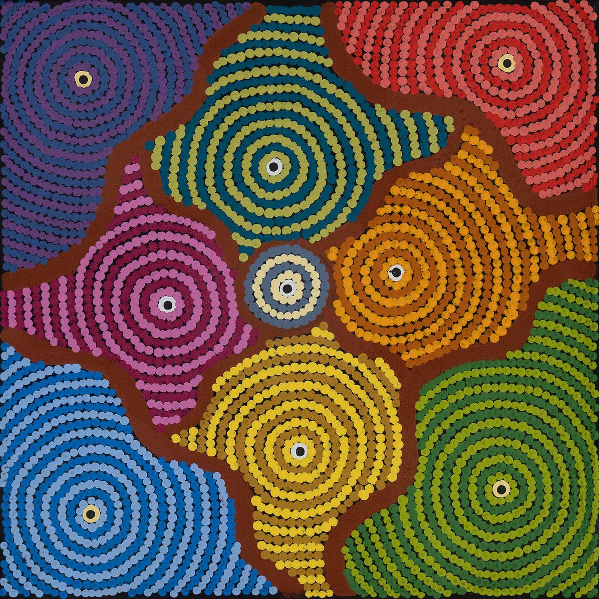 Product shot of Bush Potato Dreaming – Cockatoo Creek - © Amanda Dixon Napangardi