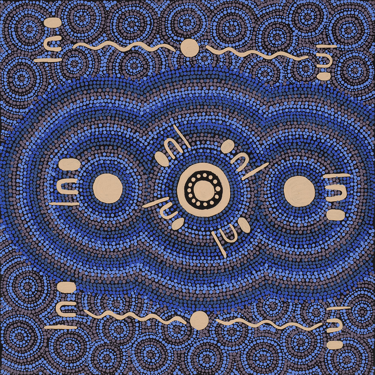 Product shot of Desert Fringe-rush Seed Dreaming - © Anne Grace Kitson Nungarrayi