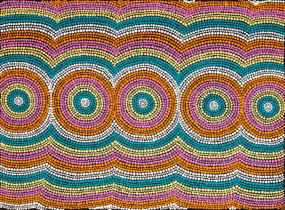 Product shot of Mt Doreen Dreaming - © Hazel Morris Nungarrayi