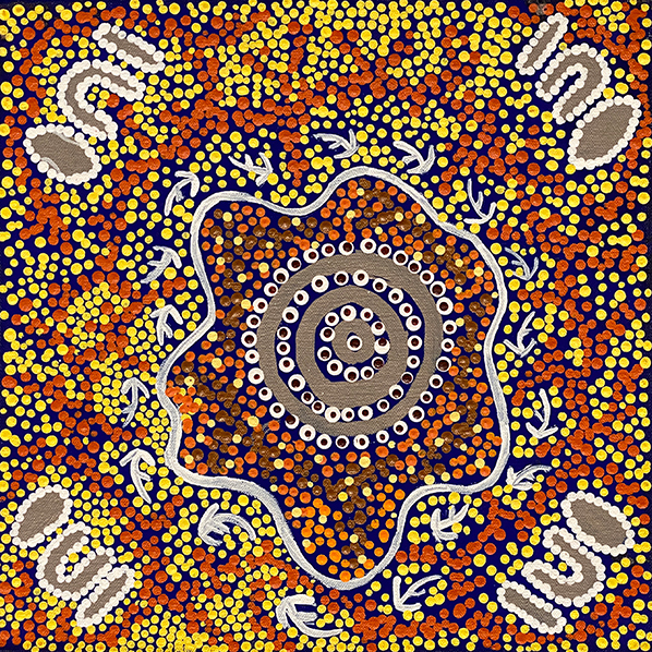 Product shot of Goanna Dreaming - © Kirsten Spencer Napaljarri