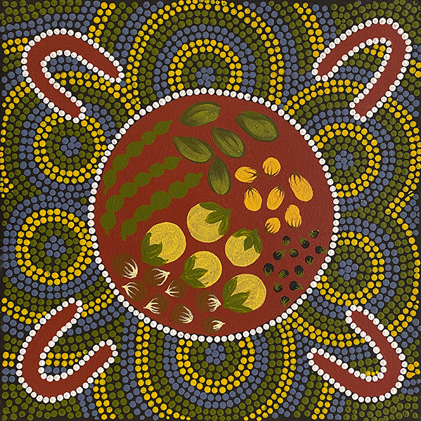 Product shot of Dogwood Tree Dreaming - © Sonya Murphy Napaljarri
