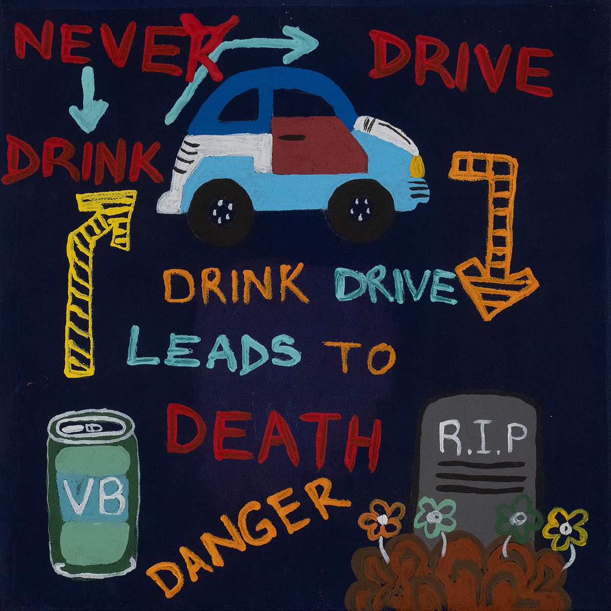 Product shot of Drink Driving Awareness Campaign - © Cherylyn Granites Napangardi
