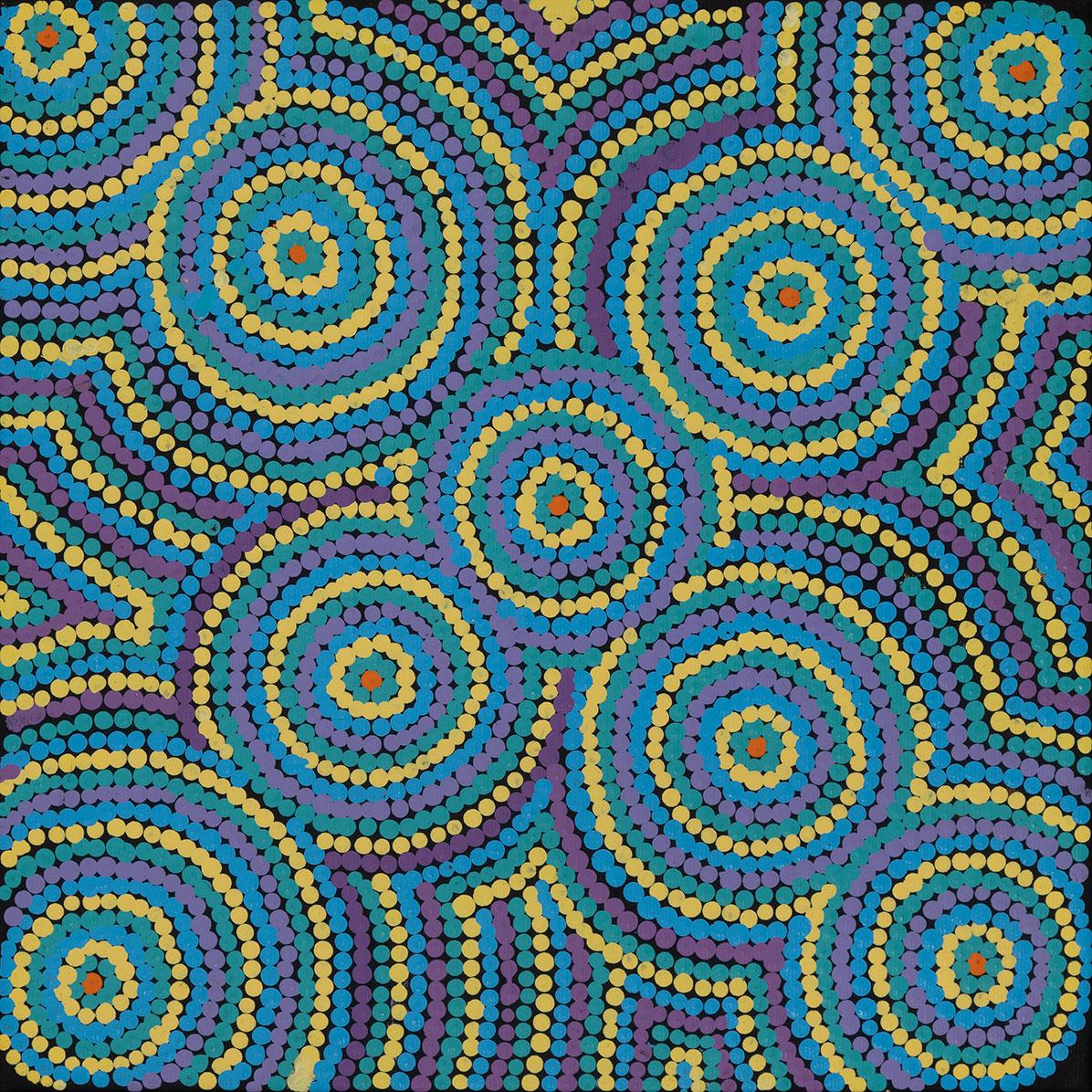 Product shot of Patterns of the Landscape Around Yuendumu - © Cecilia Wilson Napurrurla