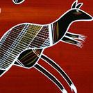 Two Kangaroos and Goanna - © Reg Pengarte