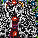 Dreamtime Sisters - © Colleen Wallace Nungarrayi